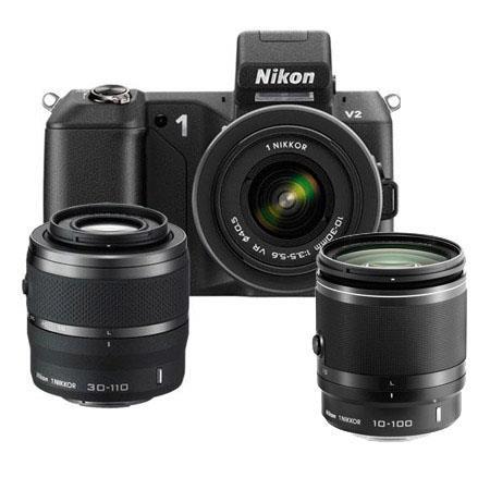 Nikon V Mirrorless Digital Camera VR VR Lens Bundle Nikon f VR Lens Black Camera Bag and Filter Kit  194 - 342