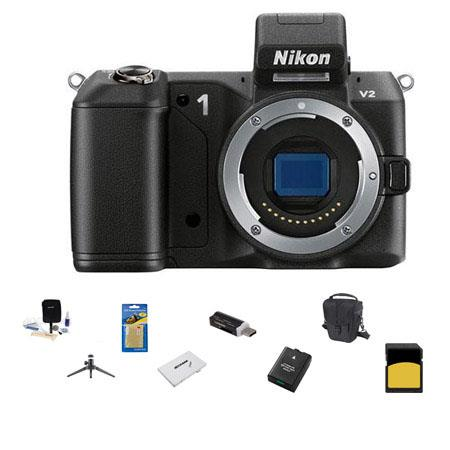 Nikon V Mirrorless Digital Camera Body Bundle SanDisk GB SDHC Memory Card LowePro Carrying Case Spar 122 - 432