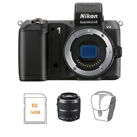 Nikon V Mirrorless Digital Camera Body Bundle Nikon Nikkor f VR Lens Black SanDisk GB Extreme SDHC M 126 - 180