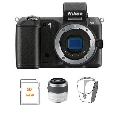 Nikon V Mirrorless Digital Camera Body Bundle Nikon Nikkor f VR Lens White SanDisk GB Extreme SDHC M 315 - 24