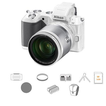 Nikon V Mirrorless Digital Camera Nikon f VR Zoom Lens Bundle GB SDHC Memory Card Camera Carrying Ca 151 - 477