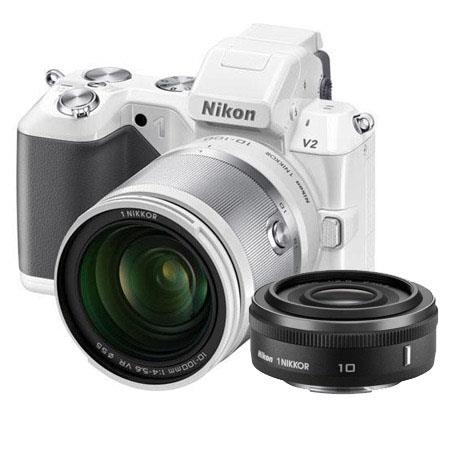 Nikon V Digital Camera Nikon f VR Lens Bundle Nikon Nikkor f Lens Black Camera Bag and Filter Kit UV 114 - 458