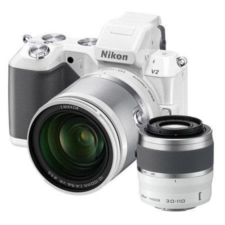 Nikon V Digital Camera Nikon f VR Lens Bundle Nikon f VR Lens White Camera Bag and Filter Kit UV CPL 46 - 482