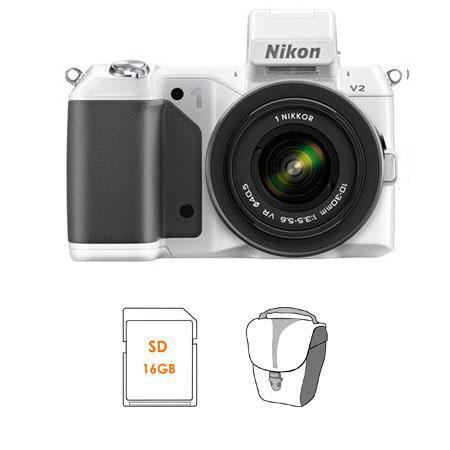 Nikon V Mirrorless Digital Camera Body Nikon VR Zoom Lens Bundle SanDisk GB Extreme SDHC Memory Card 315 - 24