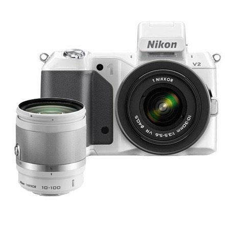 Nikon V Mirrorless Digital Camera VR Lens Bundle Nikon f VR Lens White Camera Bag and Filter Kit UV  72 - 614
