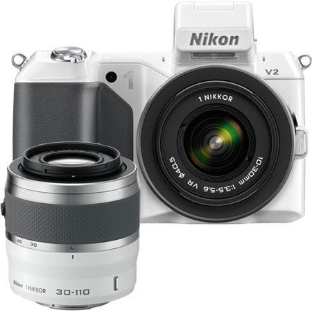 Nikon V Mirrorless Digital Camera Two Lens Zoom Kit Nikon VR Zoom Lens and Nikon VR Zoom Lens  88 - 74