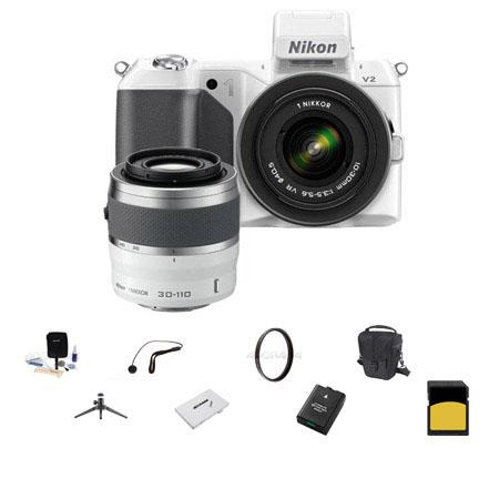 Nikon V Mirrorless Digital Camera Two Lens Zoom Kit Nikon and VR Zoom Lenses Bundle SanDisk GB SDHC  48 - 652