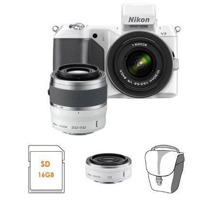 Nikon V Mirrorless Digital Camera Two Lens Zoom Kit Nikon VR Zoom Lens and Nikon VR Zoom Lens Bundle 70 - 717