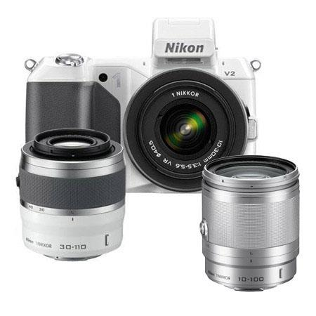 Nikon V Mirrorless Digital Camera VR VR Lens Bundle Nikon f VR Lens Silver Camera Bag and Filter Kit 98 - 603