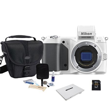 Nikon V Mirrorless Digital Camera Body Bundle Lexar GB SDHC Memory Card Lowepro Rezo TLZ Holster sty 53 - 599
