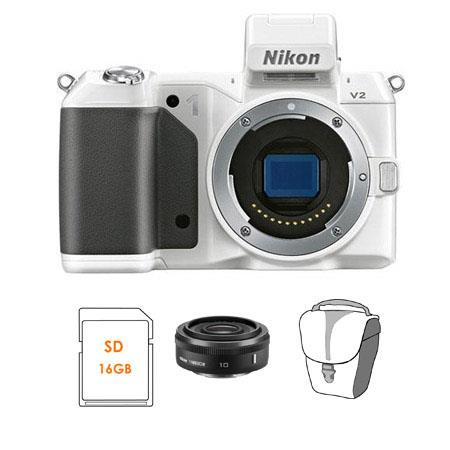 Nikon V Mirrorless Digital Camera Body Bundle Nikon Nikkor f Lens Black SanDisk GB Extreme SDHC Memo 190 - 704