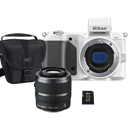 Nikon V Mirrorless Digital Camera Body Bundle Nikon Nikkor f VR Lens Black SanDisk GB Extreme SDHC M 59 - 9