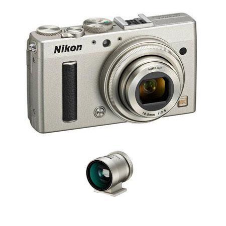 Nikon CoolpiA Digital Camera Silver Bundle Nikon DF CP Optical Viewfinder Silver 54 - 705