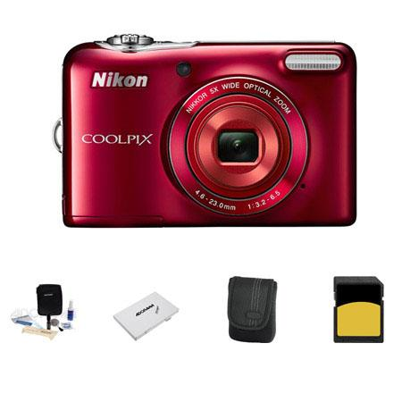 Nikon CoolpiL Digital Camera MPOptical Zoom Bundle GB Class SDHC Memory Card LowePro Case Cleaning K 154 - 236