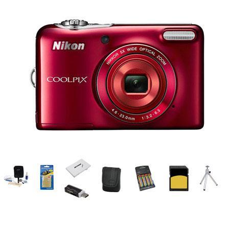 Nikon CoolpiL Digital Camera MPOptical Zoom Bundle GB Class SDHC Memory Card LowePro Case AA NiMH mA 67 - 415