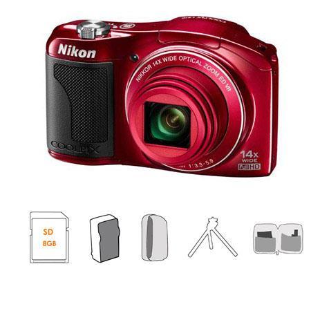 Nikon CoolpiL Digital CameraOptical Zoom NIKKOR ED Glass Lens Bundle Kingston SDGB GB Class SDHC Mem 222 - 1