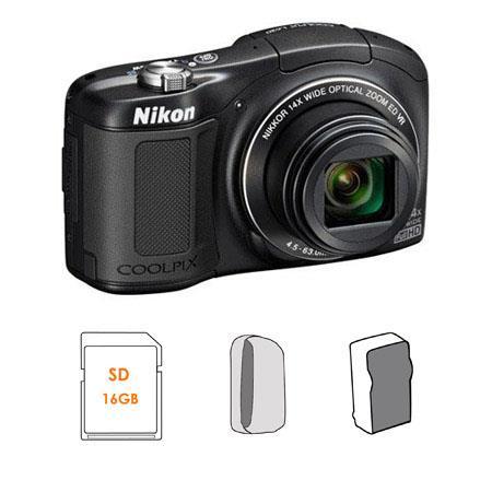 Nikon CoolpiL Compact Digital Camera MPOptical Zoom Bundle GB SDHC HS Memory Card LowePro Dublin Cam 236 - 370