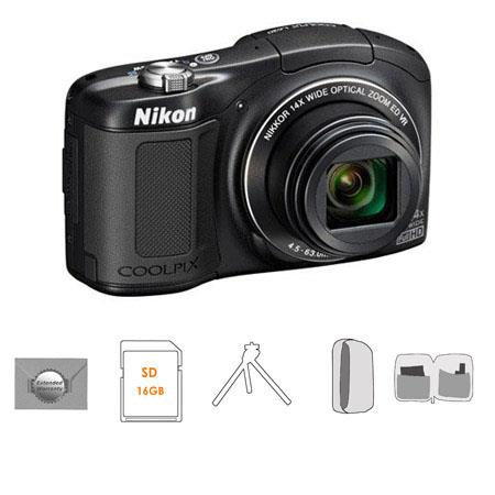 Nikon CoolpiL Compact Digital Camera MPOptical Zoom Bundle GB SDHC HS Memory Card New Leaf Year Exte 92 - 311