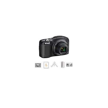 Nikon CoolpiL Compact Digital Camera MPOptical Zoom Bundle GB SDHC HS Memory Card New Leaf Year Exte 174 - 519
