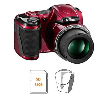 Nikon CoolpiL Digital Camera Bundle GB SDHC Memory Card Camera Case 98 - 325