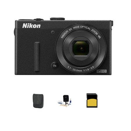 Nikon CoolpiDigital Camera MPOptical Bundle LowePro Dublin Case GB Class SDHC Card Cleanining Kit 251 - 415