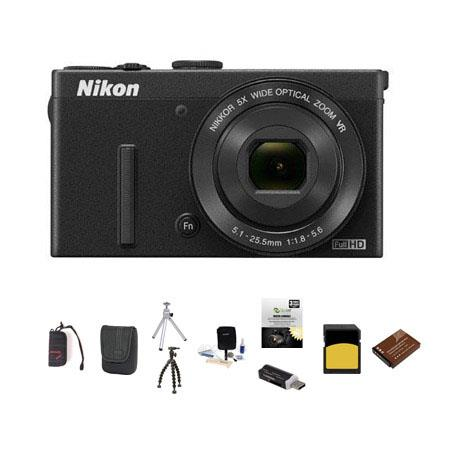 Nikon CoolpiDigital Camera MPOptical Bundle LowePro Dublin Case GB Class SDHC Card Spare Battery New 72 - 757