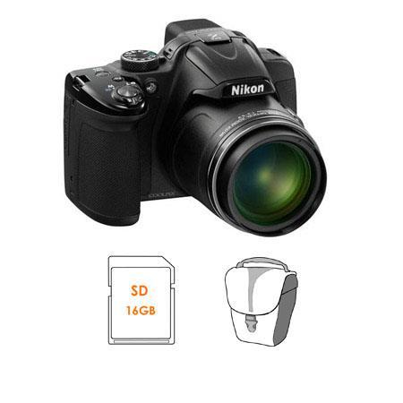 Nikon CoolpiDigital Camera BUNDLE GB SDHC Memory Card and Camera Pouch 103 - 296