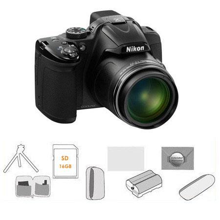 Nikon CoolpiDigital Camera BUNDLE GB SDHC Card Camera Pouch High Capacity Spare Li Ion Battery New L 132 - 211