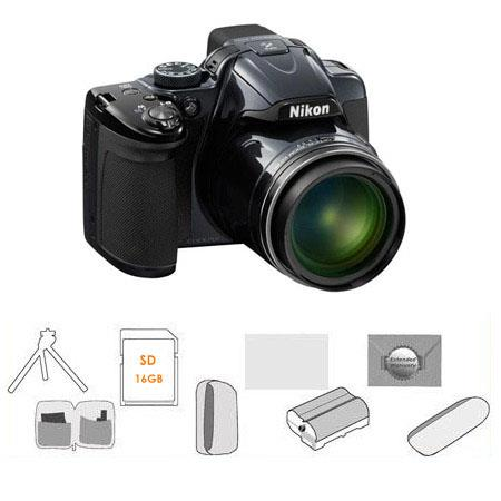 Nikon CoolpiDigital Camera Grey BUNDLE GB SDHC Card Camera Pouch High Capacity Spare Li Ion Battery  132 - 211