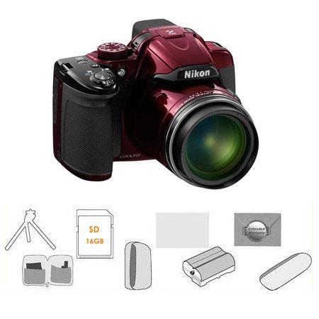 Nikon CoolpiDigital Camera BUNDLE GB SDHC Card Camera Pouch High Capacity Spare Li Ion Battery New L 253 - 127