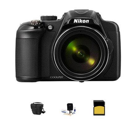 Nikon CoolpiDigital Camera MPOptical Zoom Bundle LowePro TLZ Holster Case GB Class SDHC Card Cleanin 72 - 736