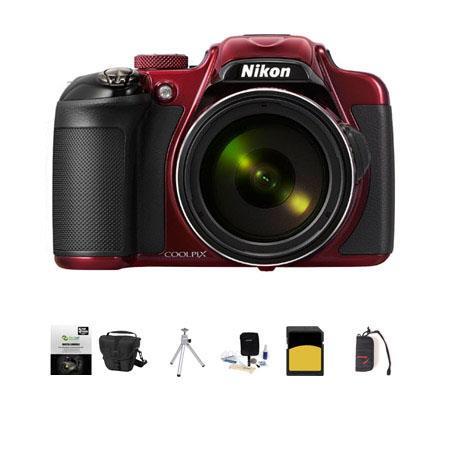 Nikon CoolpiDigital Camera MPOptical Zoom RED Bundle LowePro TLZ Holster Case GB Class SDHC Card New 458 - 31