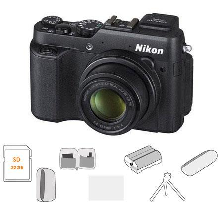 Nikon CoolPiMP Digital Camera BUNDLE GB Class SDHC Card Camera Case Lens Cleaning Kit LCD Screen Pro 48 - 462