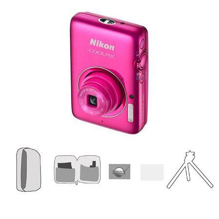 Nikon CoolpiS Megapixel Digital CameraOptical Zoom Bundle Lowe Pro Camera Pouch New Leaf Year Warran 66 - 454