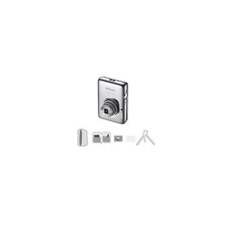 Nikon CoolpiS Megapixel Digital CameraOptical Zoom Silver Bundle Lowe Pro Camera Pouch New Leaf Year 279 - 5