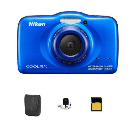 Nikon CoolpiS Digital Camera MPOptical Blue Bundle GB Class SDHC Card LowePro Dublin Case Cleaning K 86 - 544
