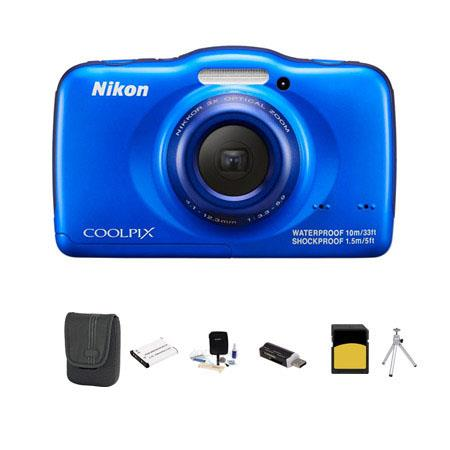 Nikon CoolpiS Digital Camera MPOptical Blue Bundle GB Class SDHC Card LowePro Dublin Case Spare Batt 41 - 759