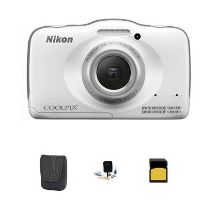 Nikon CoolpiS Digital Camera MPOptical Bundle GB Class SDHC Card LowePro Dublin Case Cleaning Kit 86 - 544