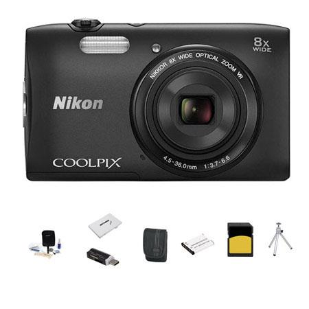 Nikon CoolpiS Digital Camera MP Bundle GB Class SDHC Memory Card Spare Battery LowePro Case Cleaning 187 - 791