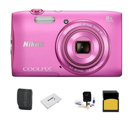Nikon CoolpiS Digital Camera MP Bundle GB Class SDHC Memory Card LowePro Case Cleaning Kit SD Card C 1 - 313