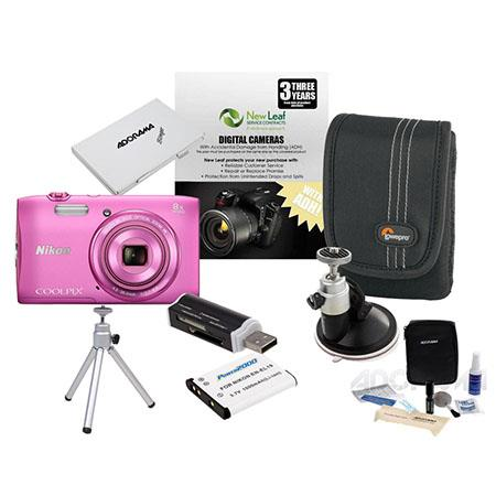 Nikon CoolpiS Digital Camera MP Bundle GB Class SDHC Memory Card Spare Battery LowePro Case New Leaf 109 - 453