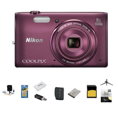 Nikon CoolpiS Digital Camera MP Bundle Sandisk GB Class SDHC Memory Card LowePro Case Spare battery  282 - 476