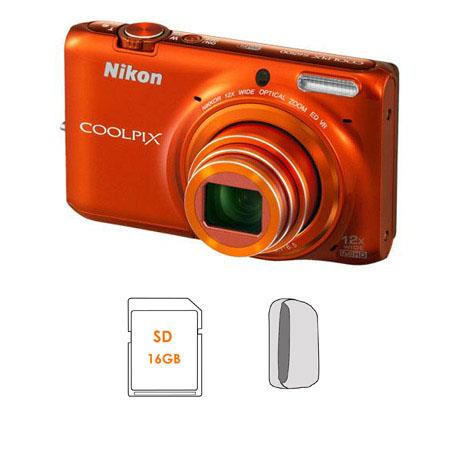 Nikon CoolpiS Megapixel Digital Camera Bundle GB SDHC Memory Card Camera Case 237 - 493