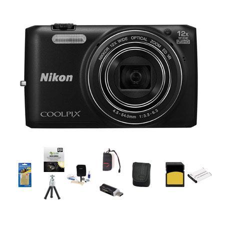 Nikon CoolpiS Digital Camera MP Bundle GB Class SDHC Memory Card LowePro Case New Leaf Year Drops Sp 39 - 400