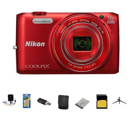 Nikon CoolpiS Digital Camera MP Bundle GB Class SDHC Memory Card LowePro Case Spare Battery Aluminum 141 - 479