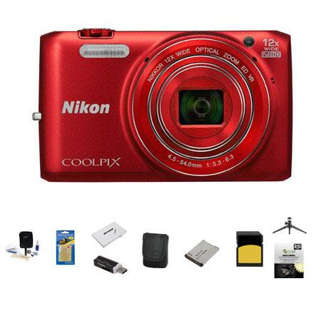 Nikon CoolpiS Digital Camera MP Bundle GB Class SDHC Memory Card LowePro Case New Leaf Year Drops Sp 234 - 629
