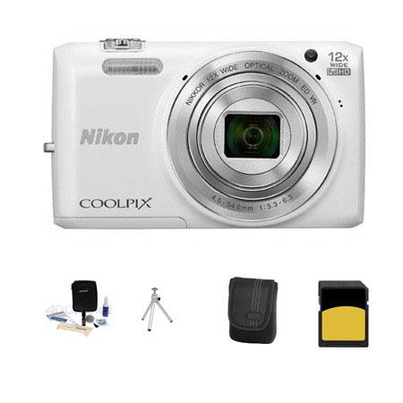 Nikon CoolpiS Digital Camera MP Bundle GB Class SDHC Memory Card LowePro Case Table Top Tripod Clean 58 - 750