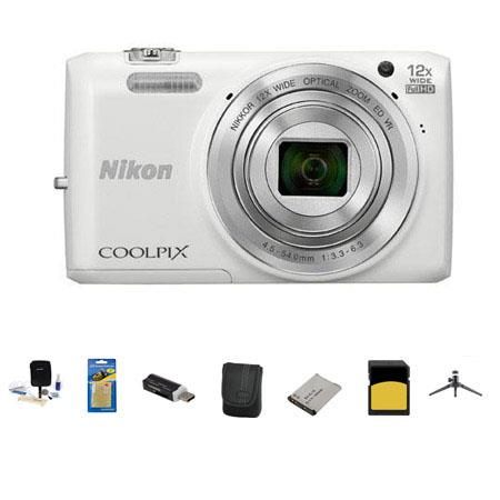 Nikon CoolpiS Digital Camera MP Bundle GB Class SDHC Memory Card LowePro Case Spare Battery Aluminum 191 - 28