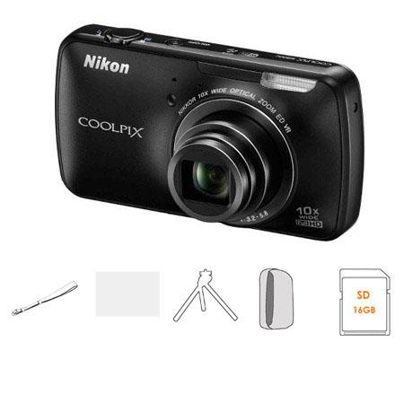 Nikon CoolpiSc Digital Camera Megapixel Bundle SanDisk GB Extreme SDHC Memory Card Nikon Synthetic L 220 - 743