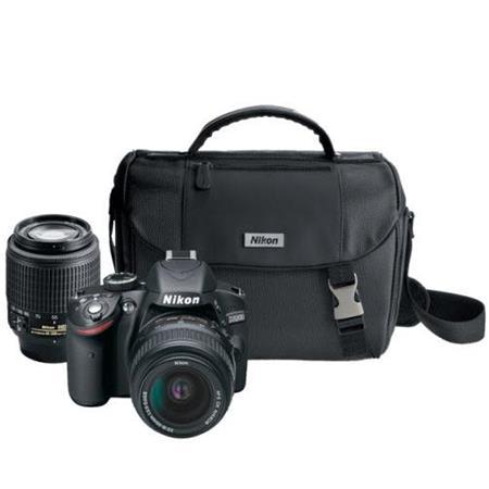 Nikon D MP Digital SLR Camera and NIKKOR Non VR Lenses Supplied Nikon FauLeather Trim Camera Bag Cha 218 - 547